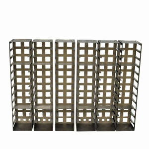 lot Of 6 Stainless Steel Laboratory Vertical Freezer Racks 26 1 2 Tall