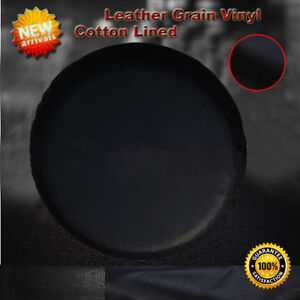 Spare Tire Cover 26 5 28 5 Black 26 27 28 Leather Grain Cotton Lined