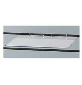 12 Slatwall Shelves Shelf Shoe 12 X 6 Flat Styrene Clear Acrylic Slat Grid