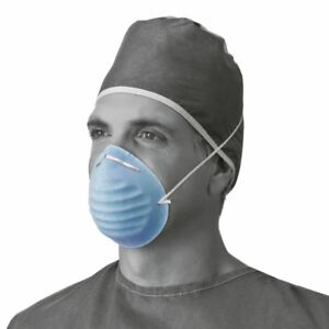 Surgical Cone style Face Mask blue Case Of 300