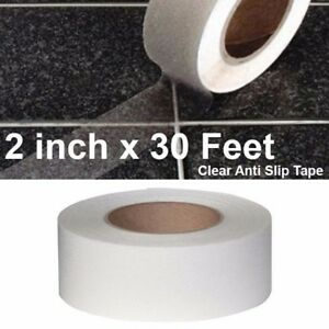 2 X 30 Transparent Clear Anti Skid Non slip Mineral Abrasive Safety Step Tape