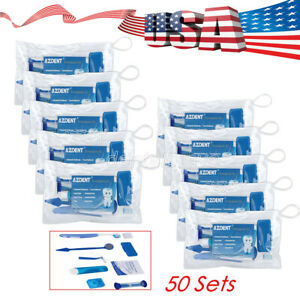 50 Sets Dental Orthodontic Brush Ties Toothbrush Interdental Brush Floss Kit