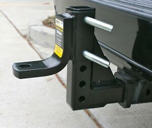 Adjustable Ball Mount Hitch Drop Trailer 8 Position Heavy Duty Towing 5000 Lbs