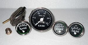 Case Tractor Temperature Tachometer Oil Pressure Ammeter Gauge Set