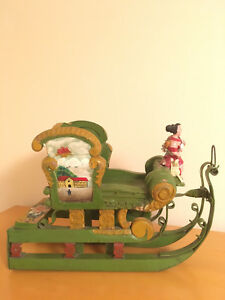 Circa 1900 Austrian Childs Wood Carved Hand Painted Sleigh
