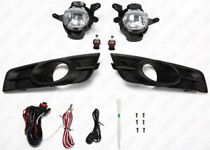 For 2011 2014 Chevrolet Cruze Clear Driving Fog Lights Set W Switch Bulbs Bezel