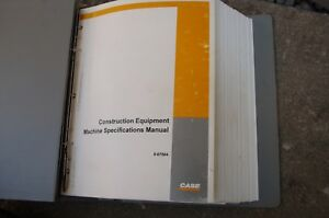 Case Heavy Equipment Machine Specification Manual Book Catalog Crawler Trencher