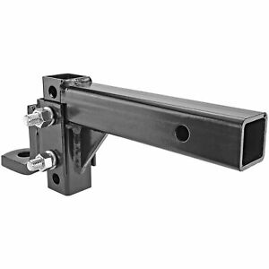 Raise Drop Adjustable Ball Mount Hitch Tow Towing Trailer Haul Truck Pickup