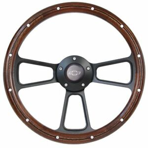 14 Steering Wheel Black Billet Mahogany For 1969 To 1994 Chevrolet Camaro
