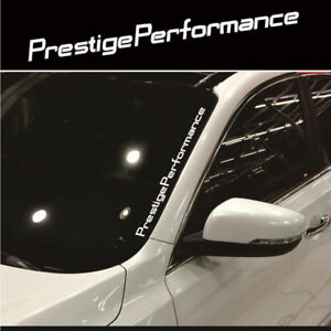 Universal Jdm Prestige Performance Hellaflush Windshield Vinyl Car Sticker Decal