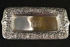 Tiffany Co Sterling Silver Repousse Pin Ring Tray