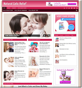 Colic Relief Turnkey Website Business Earn From Affiliate Adsense