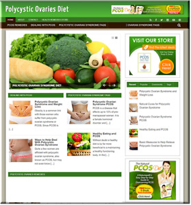 Polycystic Ovarian Turnkey Website Business Earn From Affiliate Adsense