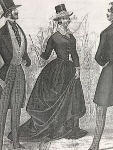Dv Musee Des Modes April 1845 Side Saddle Amazone 3 Costumes Sewing Patterns