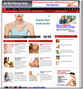 Varicose Veins Turnkey Website Business Earn From Affiliate Adsense
