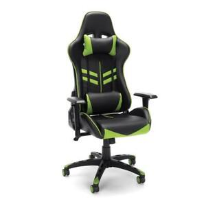 Racing Style Gaming Chair Green
