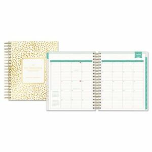 Day Designer Daily monthly Planner 8 X 10 Gold white 2018