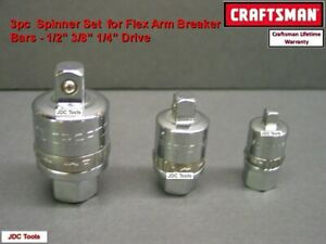 Craftsman 3 Pc Ratcheting Adapter Set 1 4 3 8 1 2 Drive Socket Tools