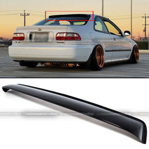 Abs Rear Window Roof Vent Visor Spoiler For 1992 1995 Honda Civic Ex Dx 2 Door
