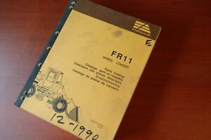 Fiat Allis Fr11 Front End Wheel Loader Parts Manual Book Factory Original 1990