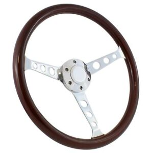 1970 1977 Ford Truck F100 F150 F250 15 Wood Chrome Steering Wheel Kit