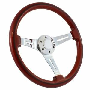 1970 77 Ford Truck F100 F150 F250 15 Wood Chrome Classic Steering Wheel Kit