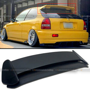 For 96 00 Civic Hatchback Ek Type r Style Unpainted Abs Roof Wing Spoiler
