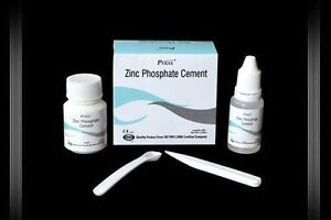 5 X Dental Zinc Phosphate Cement Permanent Tooth Filling Fixation 30gm 15ml