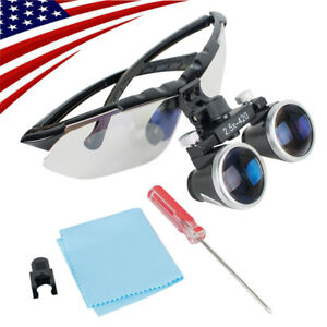 Usa Dental Surgical Medical Binocular Loupes 2 5x 420mm Optical Glass Magnifier