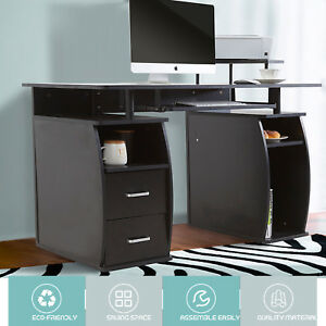 Computer Desk Table Home Office Workstation Monitor printer Shelf Furniture Pc