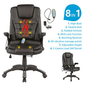 Rocker Black White Office Gaming Chair Racing Seats Computer Chair Executive