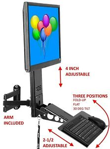Sds Imount 4 0 Adjustable Monitor And Keyboard Mounting System With Arm