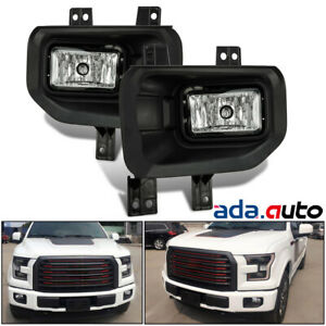 2015 2016 2017 Ford F150 Truck Pickup Replacement Bumper Driving Fog Lights Pair
