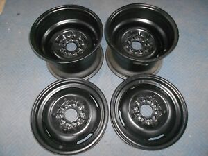 Set 15x4 5x15x10 Vintage 50s Dodge Ford 5 On 4 1 2 Stock Style Wheel Inside Clip