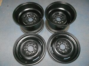 Set 15x4 15x10 Vintage 50s Dodge Ford 5 On 4 1 2 Stock Style Wheel Inside Clip