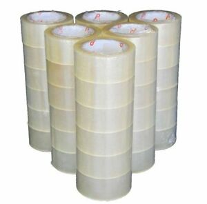 2 x110 Yards Clear Packaging Sealing Packing Tape 108 Rolls