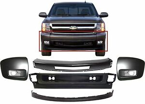 Replacement Front Bumper Combo For 2007 2013 Chevrolet Silverado Paintable New