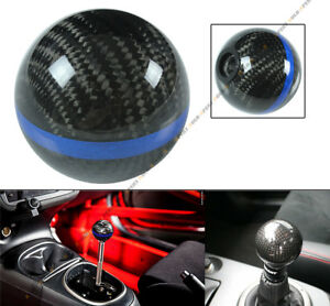 M8 X 1 25 Carbon Fiber Jdm Auto Transmission Shift Knob W Blue Strip For Lexus