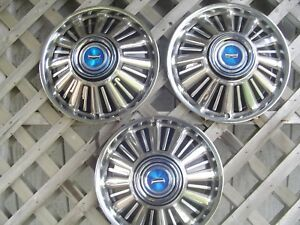 1967 67 Ford Fairlane Galaxie Hubcaps Wheel Covers Center Caps Vintage Antique