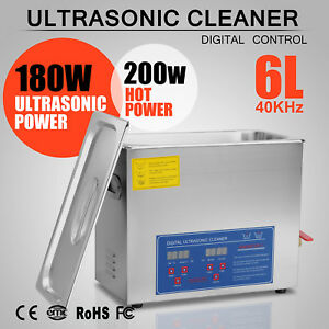 6l Ultrasonic Cleaners Cleaning Equipment Jewelry Clean Dental Medical Steel