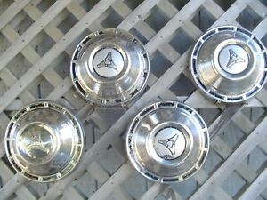 Plymouth Dodge Chrysler Max Wedge Dogdish Hubcaps Wheel Covers Center Cap Mopar