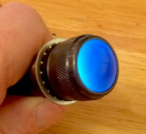 Vintage Blue Old Lens Dash Gauge Panel Light Hot Rod 3 4 Military Dialco Mint