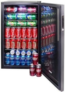 126 Beverage Can Soda Beer Storage Cooler Drinks Rv Boat Automatic Defrost Cool