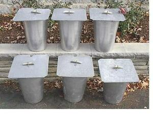 6 Maple Syrup Aluminium Sap Buckets 6 Lids Covers 6 Taps Spouts Spiles