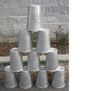 Lot Of 10 Maple Syrup Aluminium Sap Buckets Ready To Use To Gather Sap