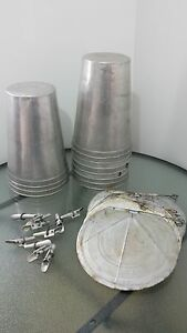 Ready To Use 10 Maple Syrup Sap Buckets Lids Covers Taps Spouts Spiles