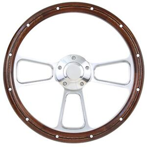 1940 1948 Ford Cars Sedan Delivery Wood And Billet Steering Wheel For 3 Bolt