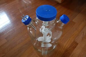 Bellco Spinner U carrier Reactor Glass Culture 8 Flask Tray 8000 Ml Liters 8l