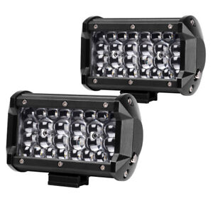 5inch Quad Row Led Work Light Bars Offroad Bull Bar Driving Truck Atv Reverse 6
