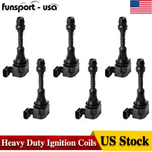 Pack Of 6 Premium Ignition Coils For Nissan Altima Maxima Murano Quest V6 Uf349